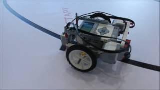 Гонки по линии на Кубке преподавателей робототехники(Робофест-2017)