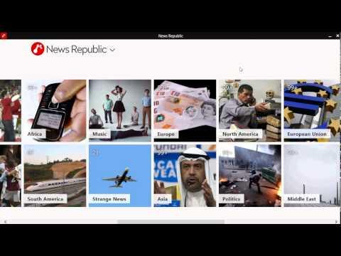 Windows 8.1  News Republic App Review