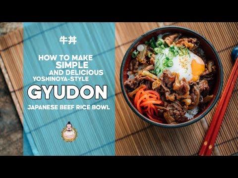 Yoshinoya-style Gyudon | 牛丼 | Japanese Beef Rice Bowl | 5-Minute Recipe