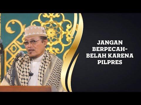 JANGAN BERPECAH-BELAH KARENA PILPRES : Kyai Prof Dr H Ahmad Zahro MA Al-Chafidz