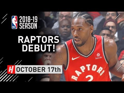 Kawhi Leonard Official RAPTORS Debut Full Highlights vs Cavaliers 2018.10.17 - 24 Pts, 13 Reb, SICK!
