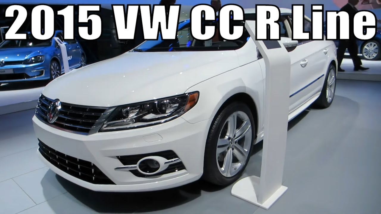 2015 vw cc r line at the 2014 naias auto show youtube. Black Bedroom Furniture Sets. Home Design Ideas