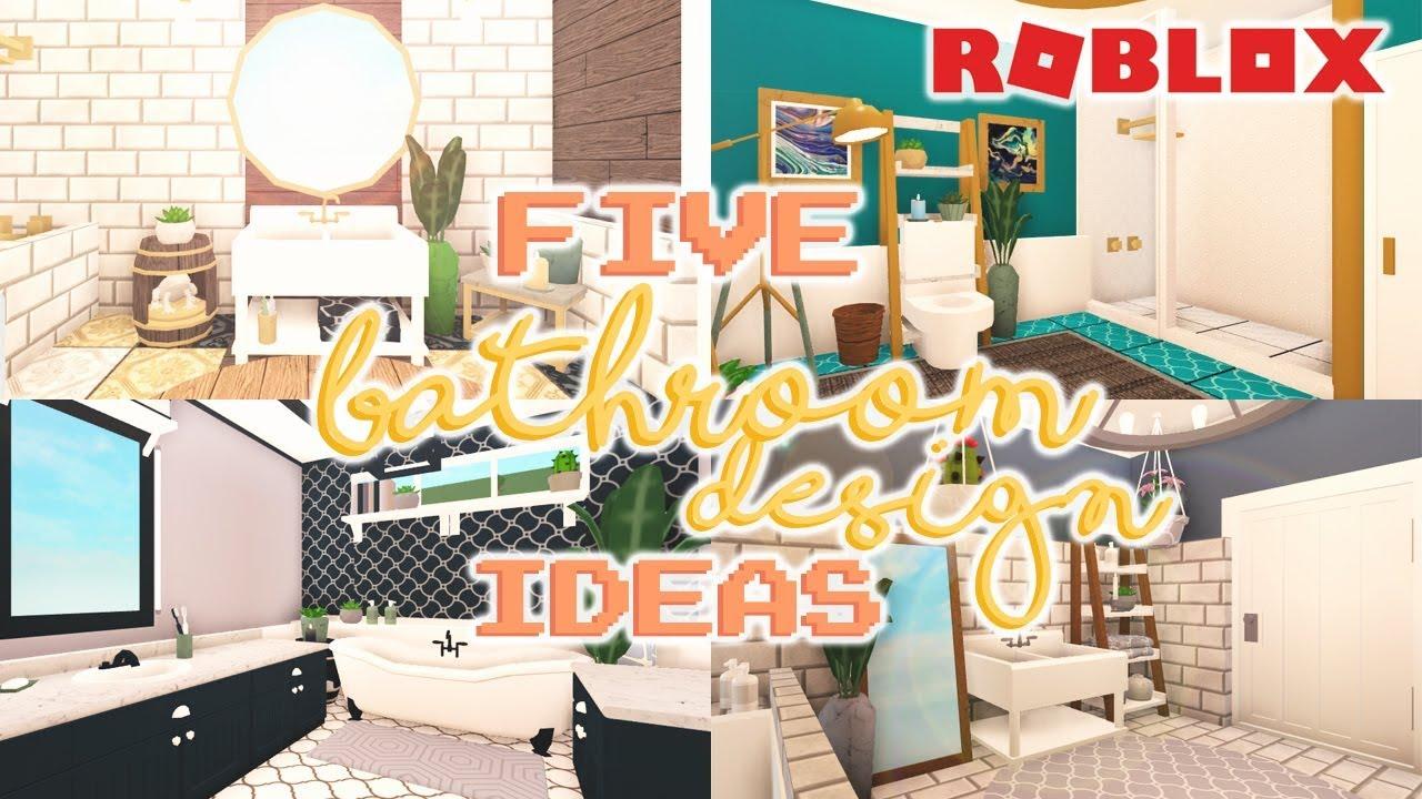 5 BATHROOM DESIGN IDEAS | Welcome to Bloxburg - YouTube