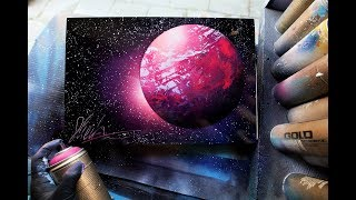 Pink Planet SPRAY PAINT ART by Skech