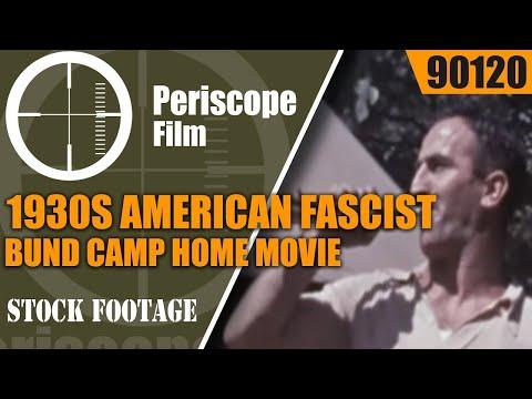 1930s AMERICAN FASCIST BUND CAMP HOME MOVIE BERGWALD NEW JERSEY 90120