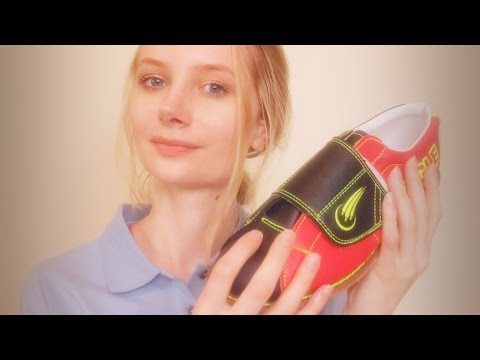 ASMR Fitting you for new Bowling Shoes! 🎳 Measuring tape, crinkly paper, writing, shoe, soft spoken