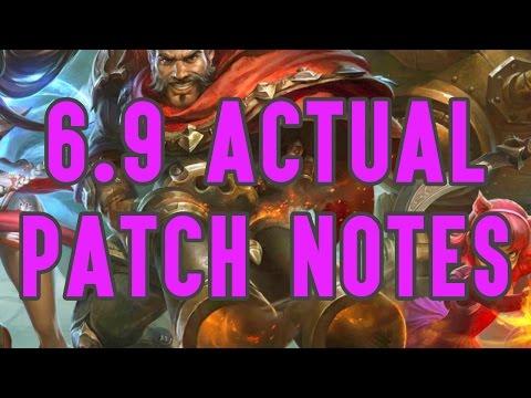 League of Legends 6.9 ACTUAL Patch Notes