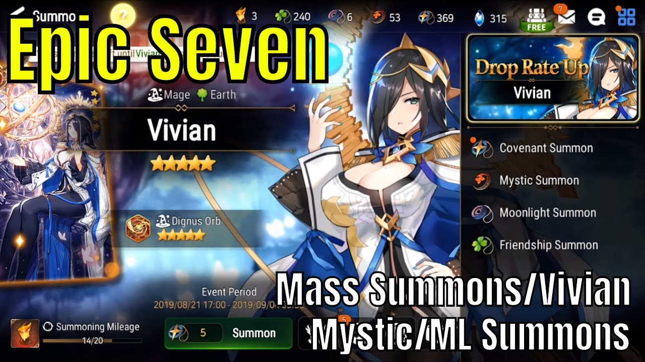 Epic Seven: Summoning For Vivian/Let the pain begin?/Mystic/ML Summons