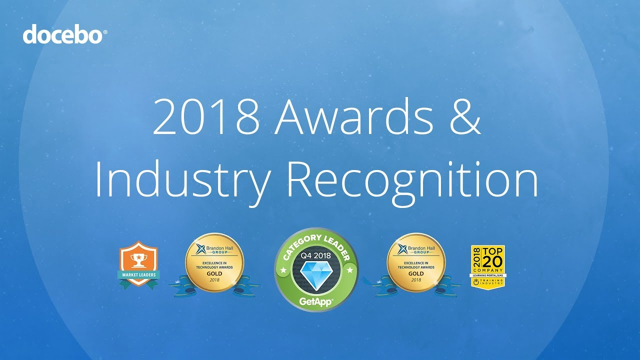 Docebo | AI Learning Platform | 2018 Awards and Industry Recognition