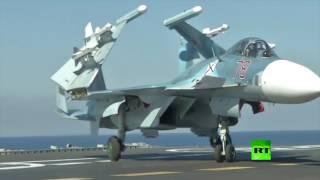 اللقطات الأولى للعملية العسكرية الروسية في إدلب وحمص