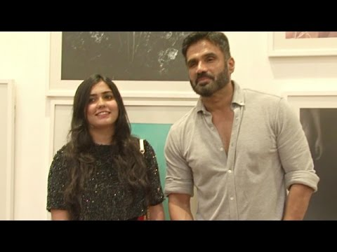 Sunil Shetty At Art Exhibition In Pune