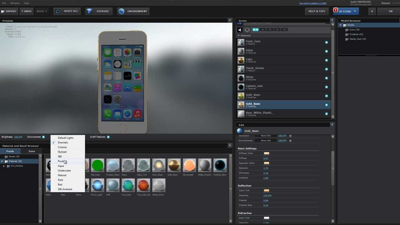Free 3D Model: iPhone 5S for Video Copilot Element 3D (After Effect Plug-in)