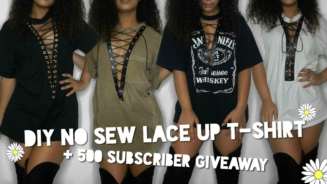 Diy No Sew Lace Up T Shirt Giveaway Closed Astriddaisy