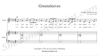 Greensleeves - Voice (4/6 : Medium-Low, E flat minor)