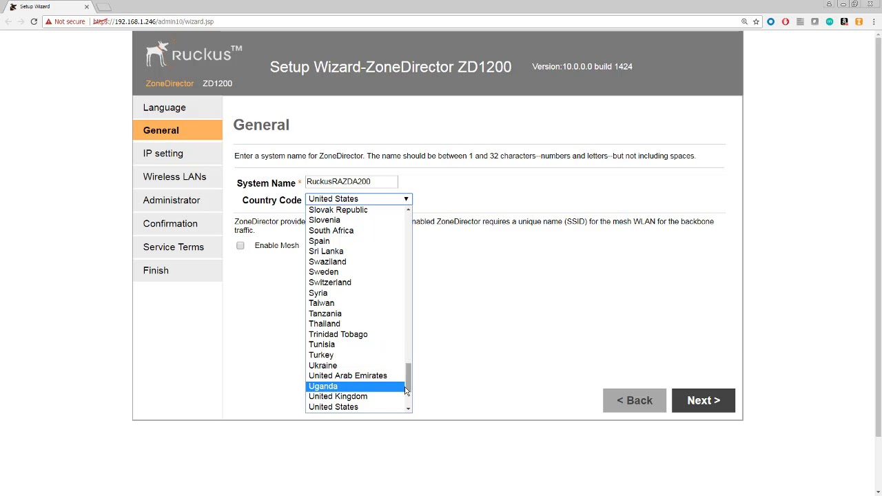 Configuring Your Ruckus ZoneDirector Using the Setup Wizard