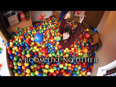 Rice University student turns his room into a ball pit