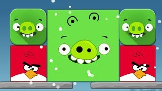 Angry Birds Kick Out Green Pigs - BIG ANGRY BIRDS KICK SMALL PIGGIES