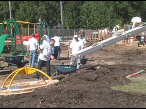 NFL/United Way Playground Build at Lincoln Elementary School