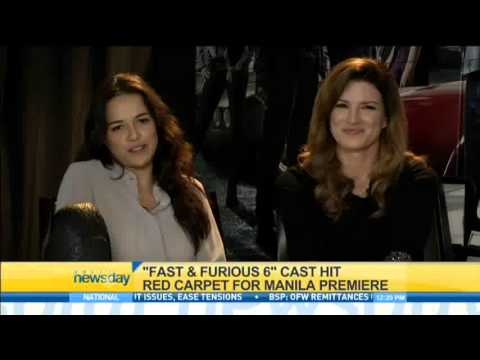 """""""Fast & Furious 6"""" cast hit red carpet for Manila premiere"""