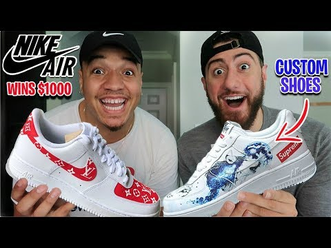 Best Custom NIKE AIR FORCE 1's Wins $1,000!! (Impossible Fashion Sneaker Challenge)