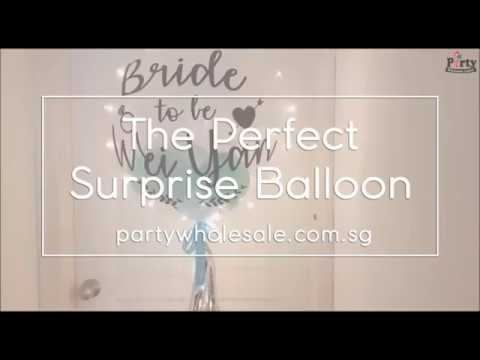 The Perfect Surprise Gift Personalized Bubble Balloon   Party Wholesale Singapore
