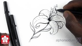 How to Draw a Lily featuring Alphonso Dunn of