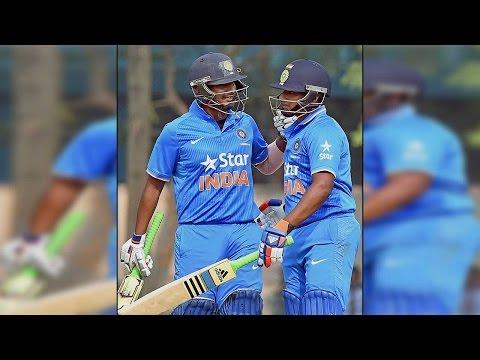 Sarfaraz Khan's 74 takes India to 258-8 against New Zealand