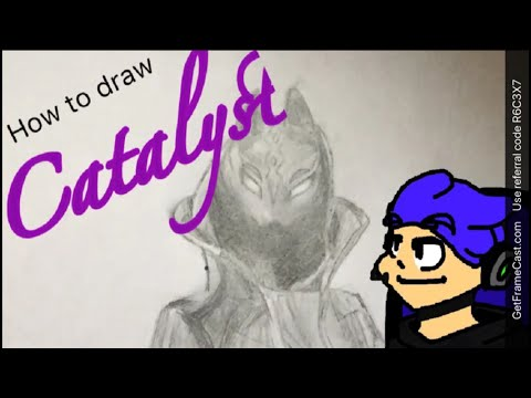 How to draw Catalyst Fortnite (Last Fortnite how to draw