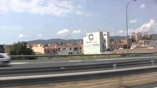 Drive from Palma Airport to Cala Viñas, Mallorca - July 2011