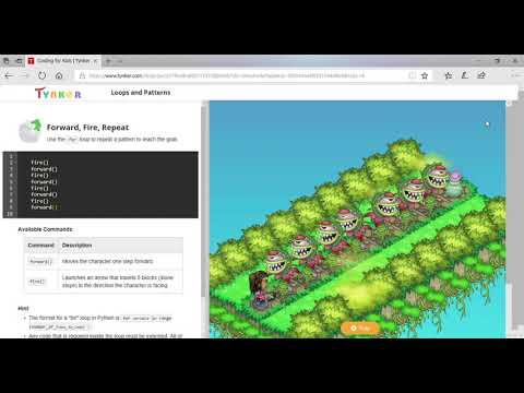 TYNKER Python 1 Walkthrough Block 2(tynker Is Broken)
