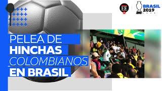 La batalla campal por la que expulsaron a colombianos del partido de Copa América contra Argentina