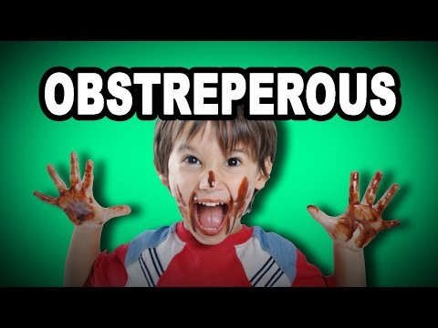Learn English Words: OBSTREPEROUS - Meaning, Vocabulary With Pictures And Examples