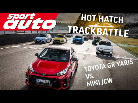 Toyota GR Yaris vs. Mini JCW | Hot Hatch Trackbattle Teil 1 | sport auto