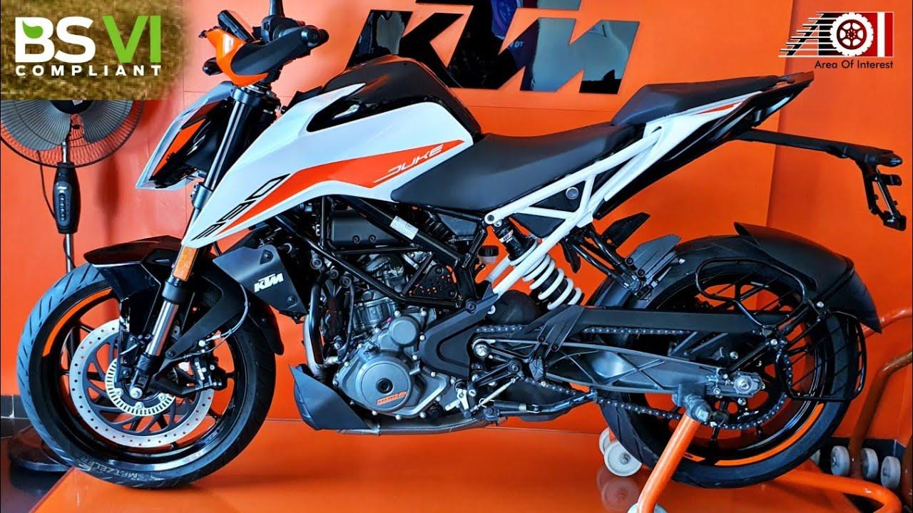 2020 Ktm Duke 390 Bs6 White Colour Dual Abs Price Mileage Features Specs Youtube