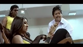 Rowdy Shilpa Shetty Spoiled Ramesh Bhat Daughter Marriage | Best Scene of Auto Shankar Kannada Movie