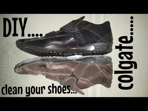 How To Clean Your Shoes With Colgate| DIY| Remove Your Shoes Dust With The Help Of Colgate.