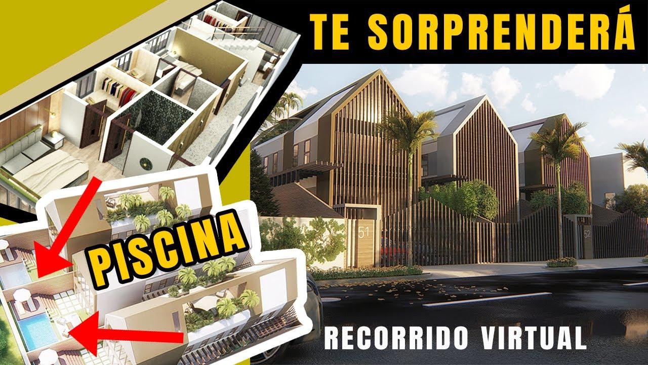 Plano De Casa Moderna De Lujo 3 Dormitorios X Terraza X Piscina Cocina Americana Ideas