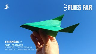 EASY PAPER AIRPLANES - How to make a Paper Airplane for Kids| Triangle🔺