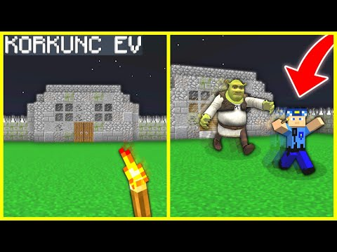 KEREM KOMİSER KORKUNÇ EVE GİRDİ SHREK'İ BULDU! 😱 - Minecraft