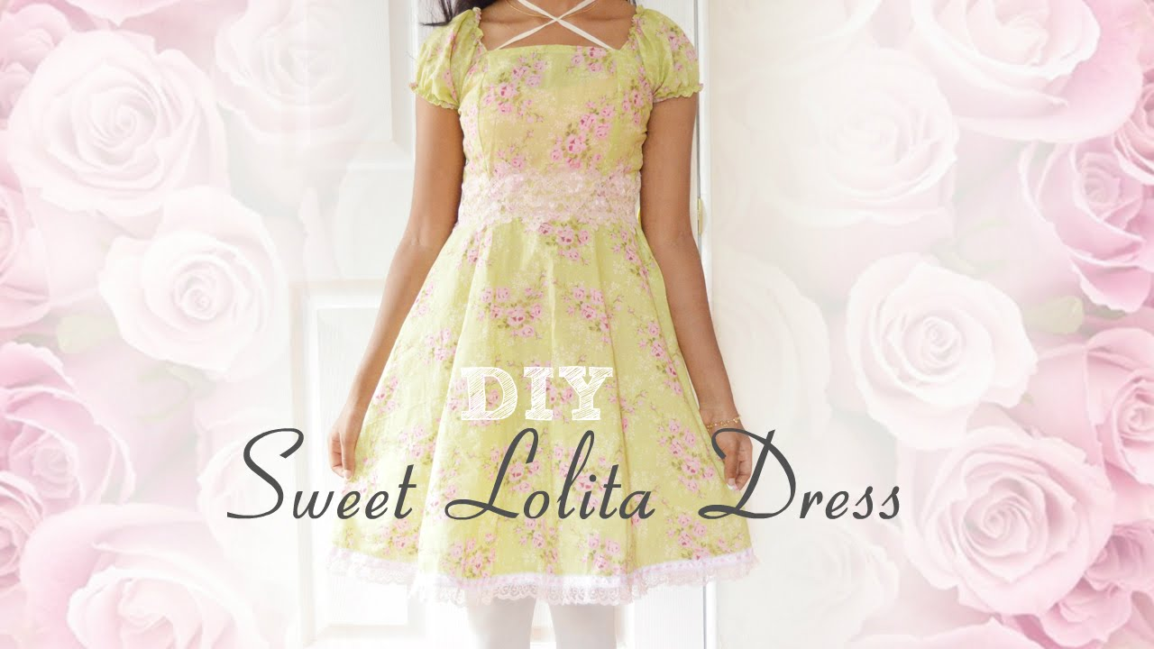 DIY: How to sew a Sweet Lolita Dress ❤ (without a pattern) - YouTube