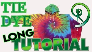 Rainbow Hoodie Spiral Tie Dye [Long Tutorial] #70