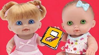 Игрушки для девочек дочки матери Куклы Пупсики играют в школу Развивающее видео Мультфильм для детей