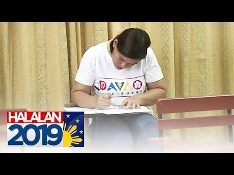 Mayor Sara Duterte bumoto na sa Davao City | Halalan 2019