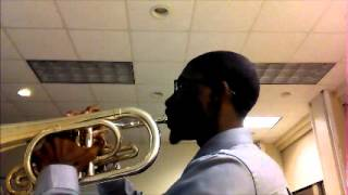 Michael D  Collins Carolina Crown Mellophone Audition 2014