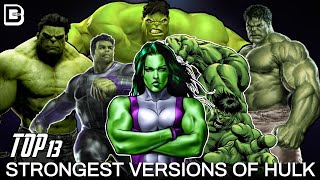 13 Strongest Versions Of Hulk | Explained In Hindi | BlueIceBear