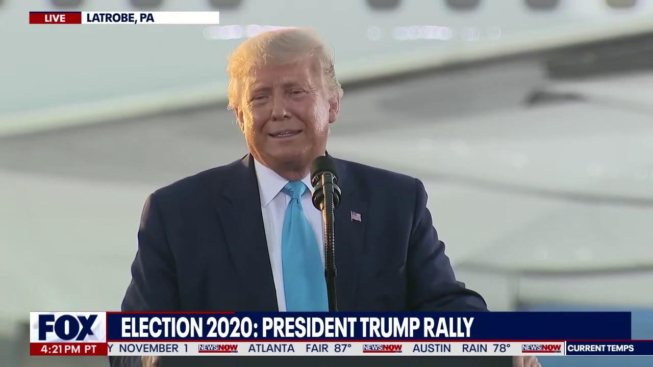 Full Rally President Trump Slams Pelosi Biden Democrats In Latrobe Pa Youtube