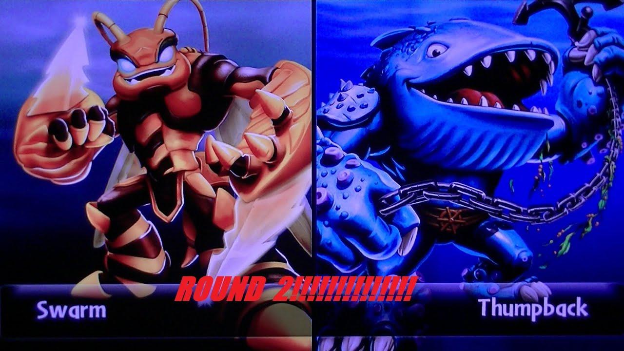 Skylanders giants swarm vs thumpback round 2 youtube - Skylanders thumpback ...