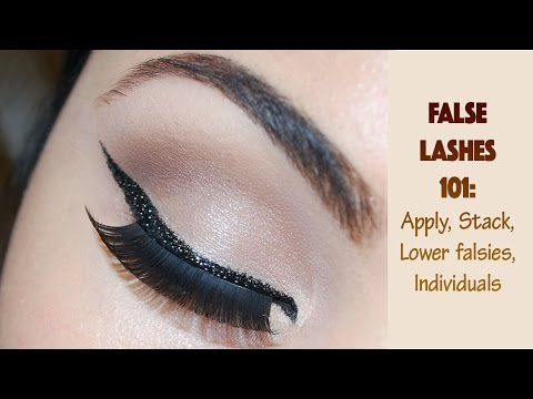How to Apply False Lashes Strip Individuals Bottom  Delia Ahmed