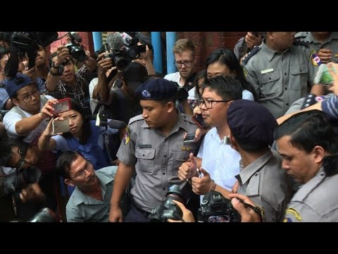 Reuters reporters jailed for seven years in Myanmar