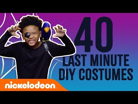 DIY Halloween: 40 Last-Minute Costumes 🎃 W/ SpongeBob SquarePants, Loud House & More! | Nick
